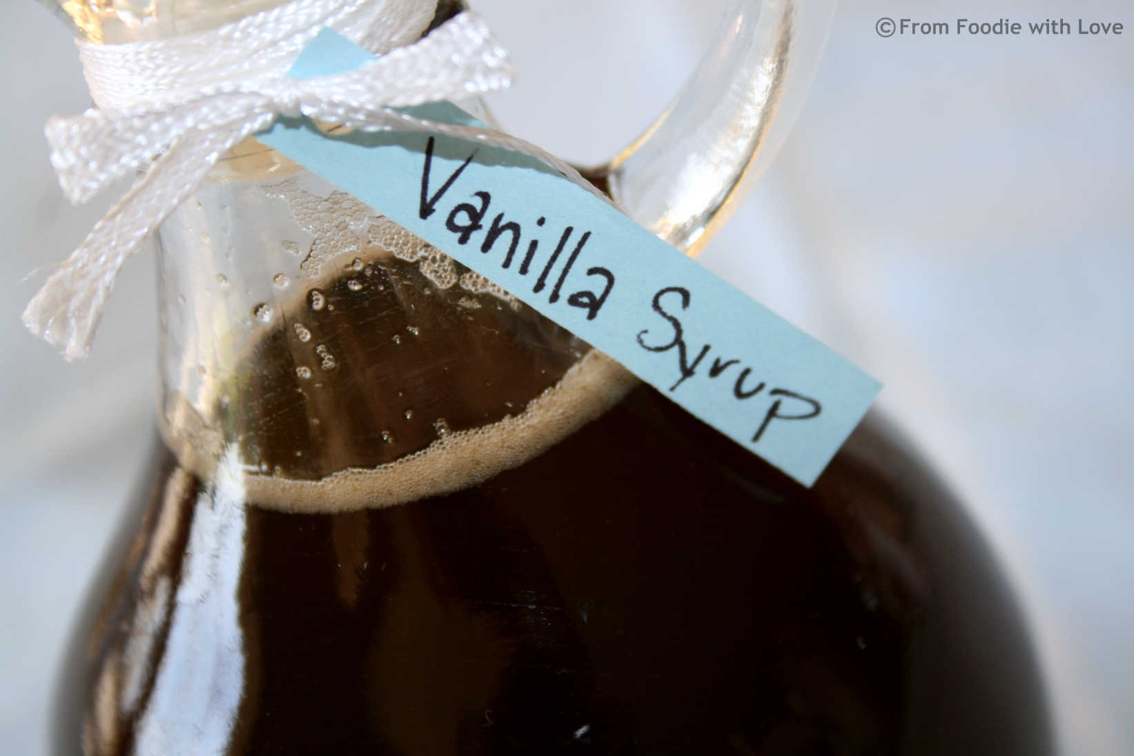 Vanilla Syrup in Bottle